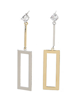 Geometric Asymmetric Pendant Earrings